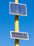 Photovoltaic solar cells turn sun electric energy Stock Photo