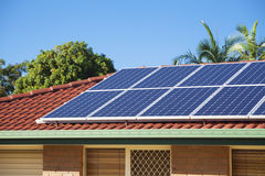 Photovoltaic solar energy Stock Images