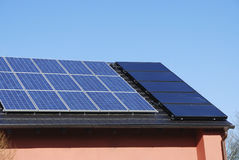 Photovoltaic And Solar Heating System Royalty Free Stock Photo