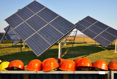 Photovoltaic solar industry Royalty Free Stock Image
