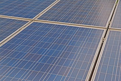 Photovoltaic solar panel. Detail of blue photovoltaic solar panel Royalty Free Stock Image