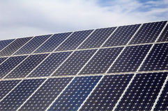 Photovoltaic, solar panel - Renewable energy stock photo