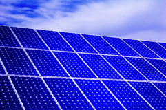Photovoltaic, solar panel - Renewable energy stock images