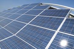 Photovoltaic solar panels arrangement Stock Image