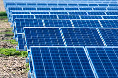 Photovoltaic Solar Panels Stock Images