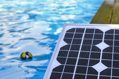 Photovoltaic solar panels for heating water Royalty Free Stock Photography
