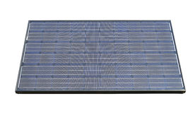 Photovoltaic solar panels isolated Royalty Free Stock Image