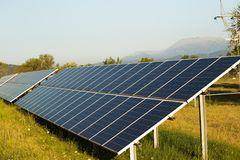 Photovoltaic solar park. Renewable energy royalty free stock images