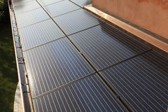 Photovoltaic solar power plant Stock Photos