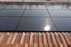 Photovoltaic solar power plant Stock Image
