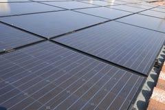 Photovoltaic solar power plant Stock Photo
