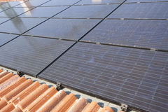 Photovoltaic solar power plant Royalty Free Stock Images