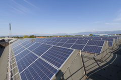Photovoltaic solar power plant Royalty Free Stock Photos