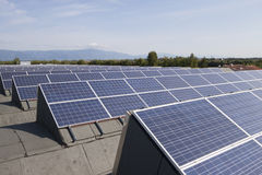 Photovoltaic solar power plant Royalty Free Stock Image
