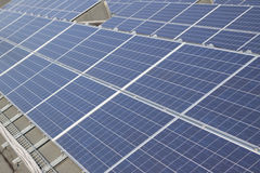 Photovoltaic solar power plant Stock Images