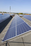 Photovoltaic solar power plant Stock Photography