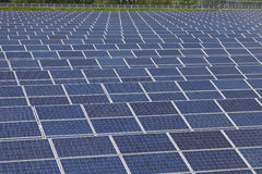 Photovoltaic solar  power station - photovoltaic park Stock Photos