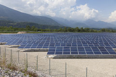 Photovoltaic solar power station - photovoltaic park royalty free stock images