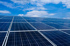 Photovoltaic systeem Stock Foto