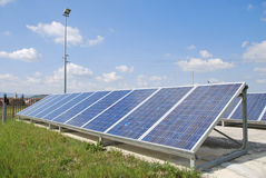 Photovoltaic system. Big solar panel for renewable energy Stock Photography
