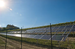 Photovoltaic system Stock Image