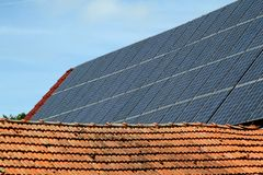 Photovoltaic system Royalty Free Stock Image