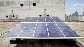 Photovoltaic system - renewable energy Royalty Free Stock Photos