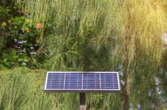 Photovoltaic using renewable solar energy in park Royalty Free Stock Photo