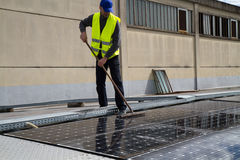 Photovoltaic werk royalty-vrije stock foto