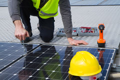 Photovoltaic work Stock Image