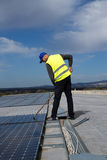 Photovoltaic worker Stock Image