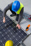 Photovoltaic worker Royalty Free Stock Photography