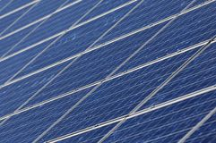 Photovoltaics. Crystalline silicon modules on a housetop Stock Images