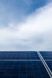 Photovoltaics. Close-up image of photovoltaics with copy space Royalty Free Stock Photography