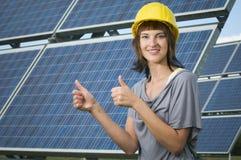 Photovoltaics für die folgenden Erzeugungen Stockbild