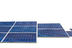 Photovoltaics  module solar panels isolated on white background. Photovoltaics  module solar panels alternative energy from the sun isolated on white background Royalty Free Stock Photography