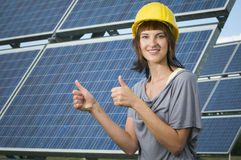 Photovoltaics for the next generations Stock Image