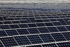 Photovoltaics panels. Of a solar power station Stock Images