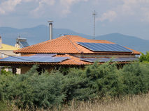 Photovoltaics on rooftop Stock Image