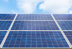 Photovoltaics  solar panels. In solar power station Stock Image