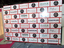 Photowall bij Professionele Schoonheid Expo, Mumbai Royalty-vrije Stock Foto