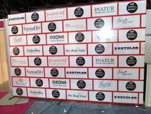 Photowall en la expo profesional de la belleza, Bombay Foto de archivo libre de regalías