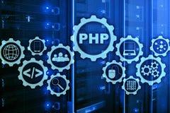 PHP编程语言 开发的编程和编码技术 网络空间概念 库存图片