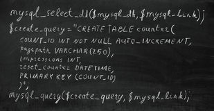 PHP代码 库存照片