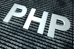 PHP binary code background Royalty Free Stock Photo