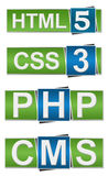 PHP CMS HTML-CSS Lizenzfreies Stockbild