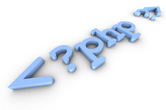 PHP code. Headline of the php code Stock Photos