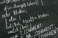 PHP code Stock Images