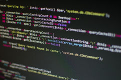 PHP CSS code in computer Royalty-vrije Stock Foto