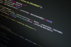 PHP CSS code in monitor Royalty-vrije Stock Afbeelding
